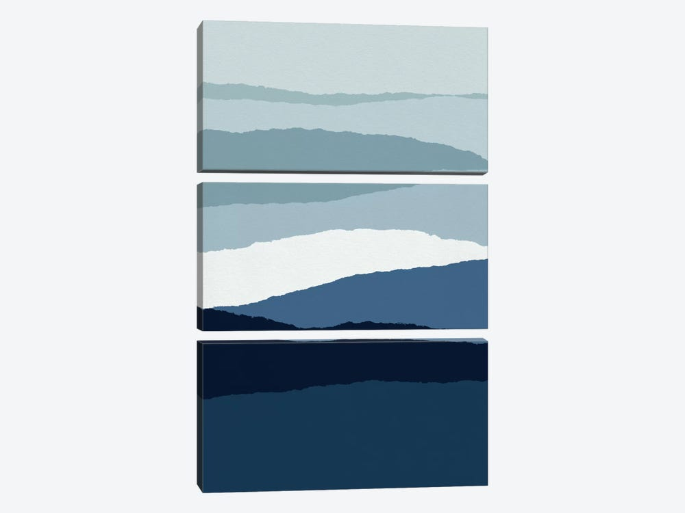 Blue Abstract II by Orara Studio 3-piece Canvas Art