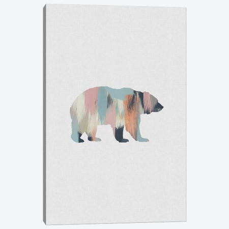 Pastel Bear Canvas Print #ORA283} by Orara Studio Art Print