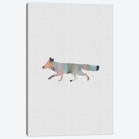 Pastel Fox Canvas Print #ORA284} by Orara Studio Canvas Wall Art