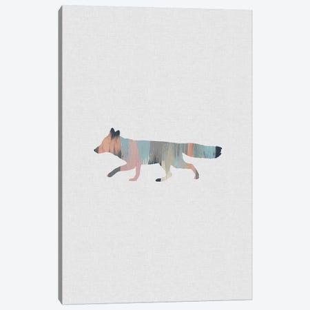 Pastel Fox Canvas Print #ORA284} by Orara Studio Canvas Wall Art