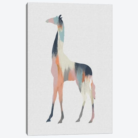 Pastel Giraffe Canvas Print #ORA285} by Orara Studio Canvas Art