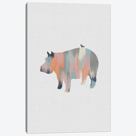 Pastel Hippo Canvas Print #ORA286} by Orara Studio Canvas Artwork