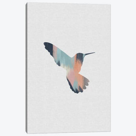 Pastel Hummingbird II Canvas Print #ORA287} by Orara Studio Canvas Artwork