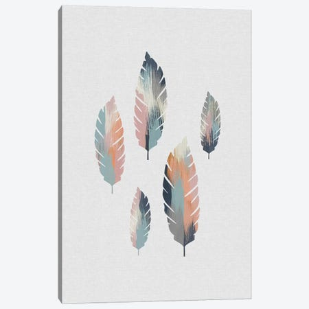 Pastel Leaves Canvas Print #ORA288} by Orara Studio Art Print