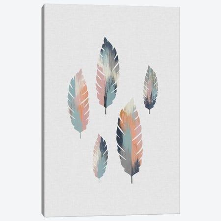 Pastel Leaves 3-Piece Canvas #ORA288} by Orara Studio Art Print