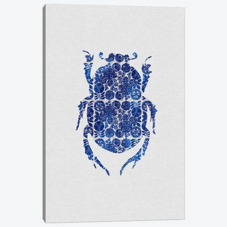 Blue Beetle I Canvas Print #ORA28} by Orara Studio Canvas Art Print