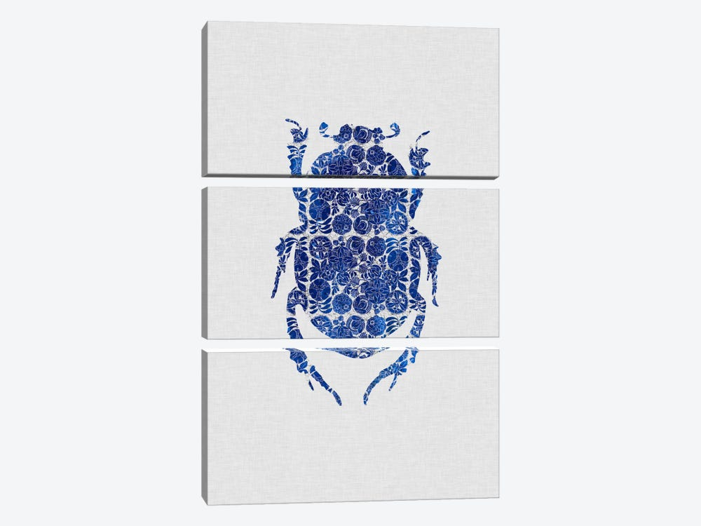 Blue Beetle I by Orara Studio 3-piece Art Print