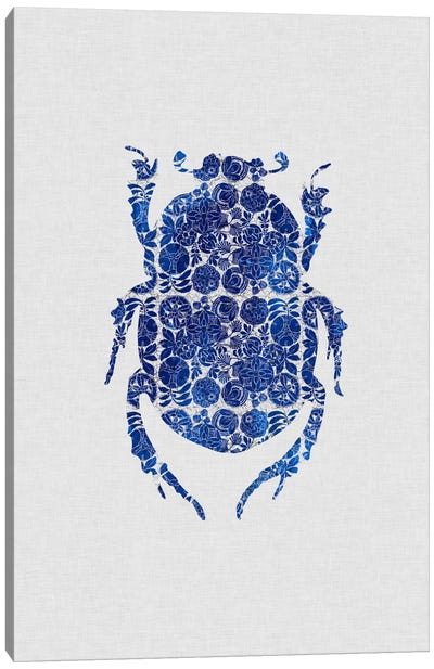 Blue Beetle I Canvas Art Print