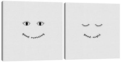 Good Morning, Good Night Diptych Canvas Art Print