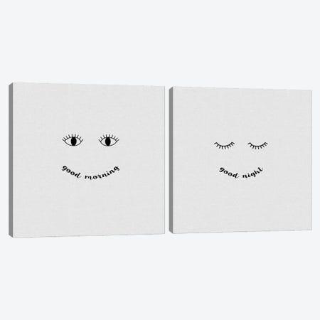 Good Morning, Good Night Diptych Canvas Print Set #ORA2HSET001} by Orara Studio Art Print