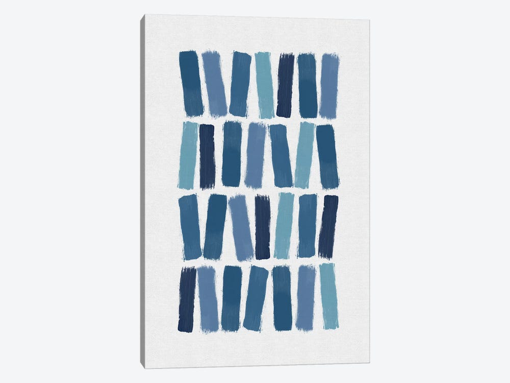 Blue Brush Strokes 1-piece Canvas Wall Art