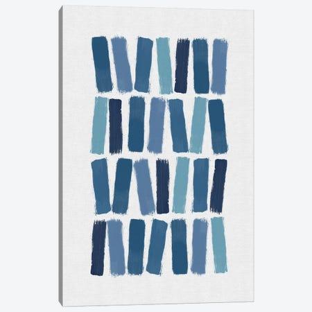 Blue Brush Strokes Canvas Print #ORA308} by Orara Studio Canvas Art
