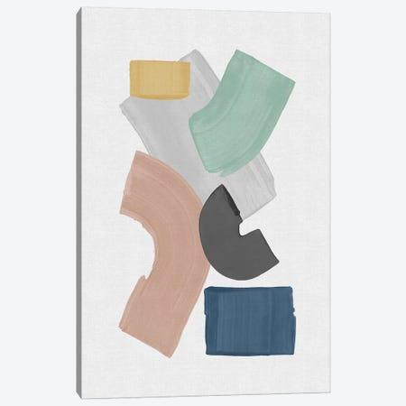 Pastel Paint Blocks Canvas Print #ORA309} by Orara Studio Canvas Artwork