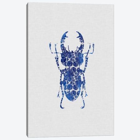Blue Beetle III Canvas Print #ORA30} by Orara Studio Canvas Wall Art