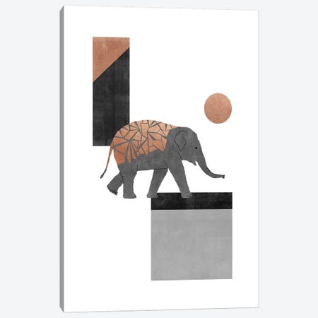 Elephant Mosaic I Canvas Print #ORA312} by Orara Studio Art Print