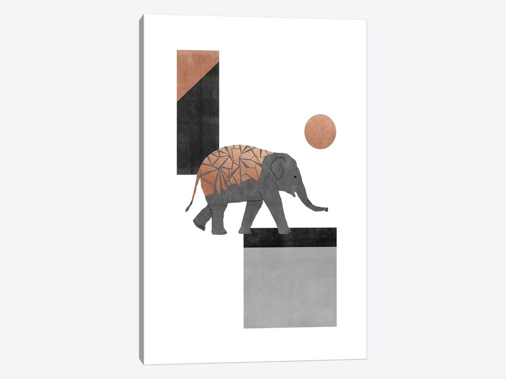 Elephant Mosaic I by Orara Studio 1-piece Canvas Art Print