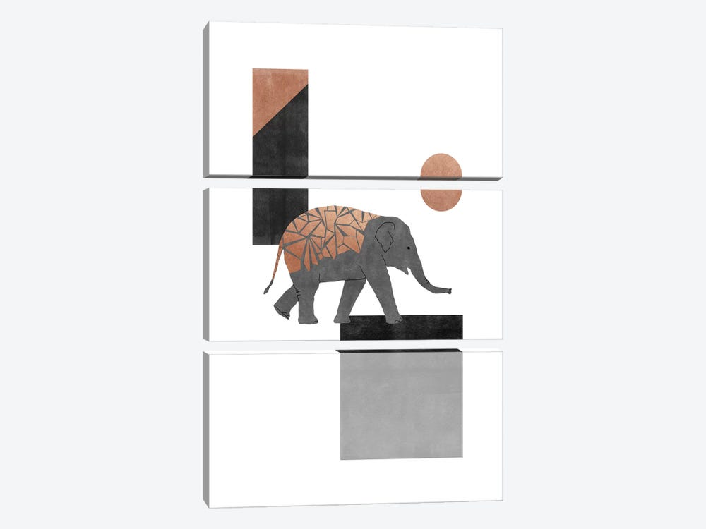Elephant Mosaic I by Orara Studio 3-piece Canvas Print