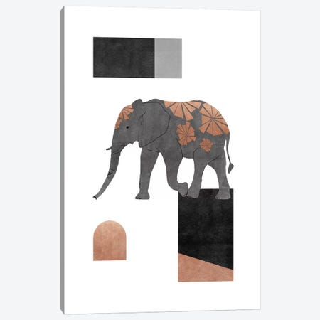 Elephant Mosaic Ii Canvas Print #ORA313} by Orara Studio Art Print