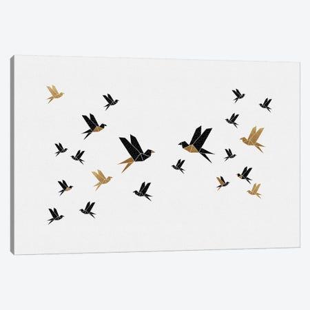 Origami Birds Collage III Canvas Print #ORA316} by Orara Studio Canvas Wall Art