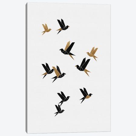 Origami Birds Collage I Canvas Print #ORA319} by Orara Studio Canvas Print
