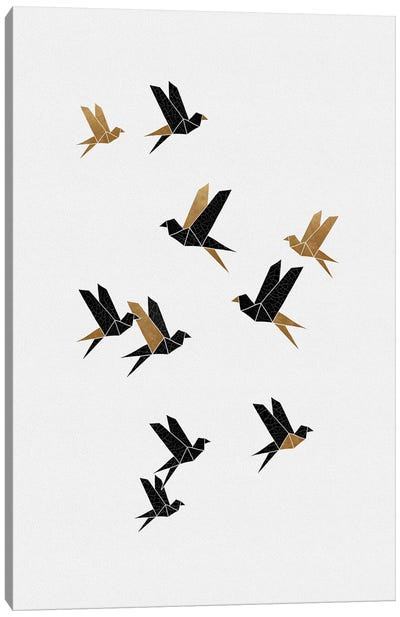 Origami Birds Collage I Canvas Art Print