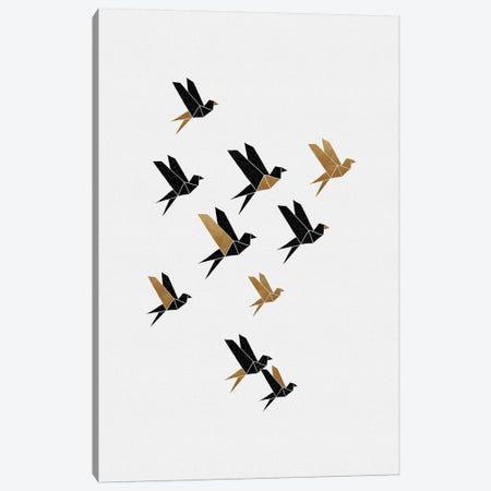 Origami Birds Collage III Canvas Print #ORA320} by Orara Studio Canvas Art