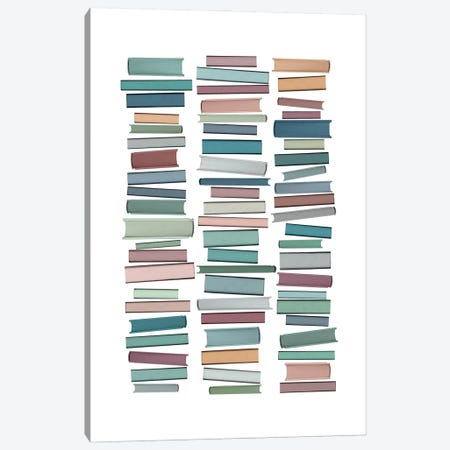 Books Pastel Canvas Print #ORA324} by Orara Studio Art Print