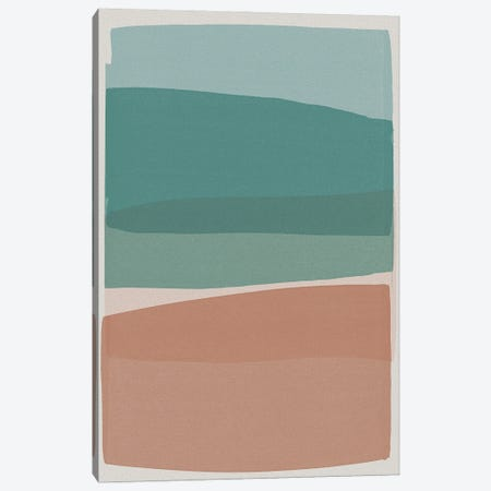 Modern Turquoise And Pink Canvas Print #ORA326} by Orara Studio Canvas Print