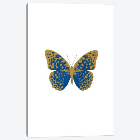 Blue Butterfly Canvas Print #ORA32} by Orara Studio Canvas Artwork