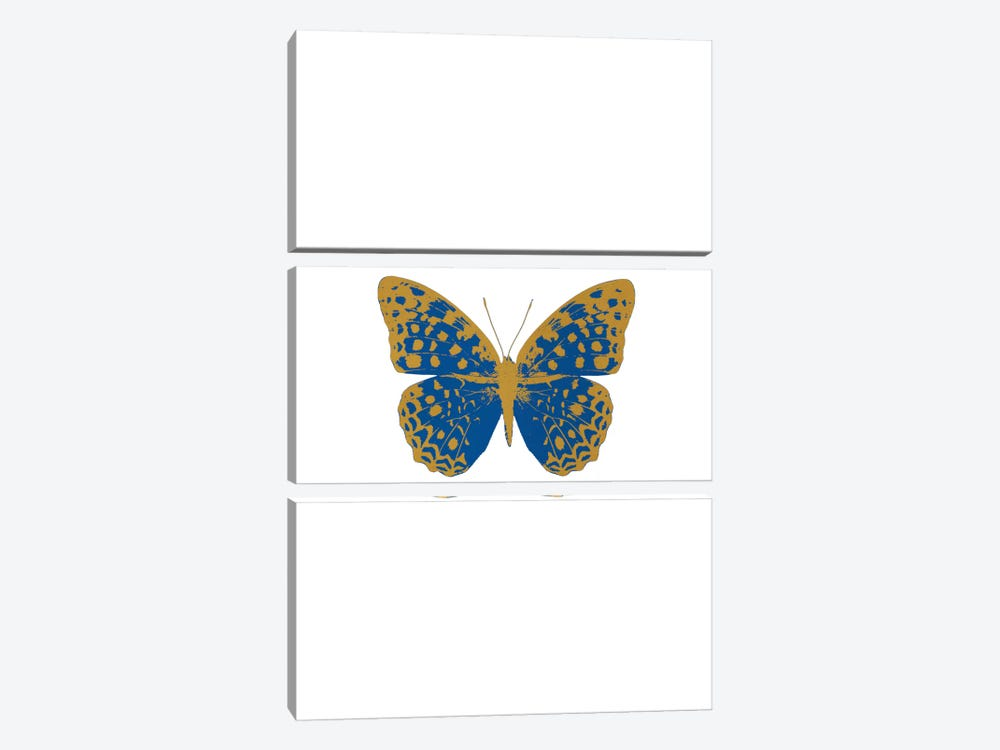 Blue Butterfly by Orara Studio 3-piece Canvas Art