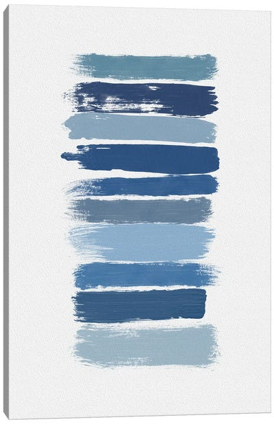 Ombre Blue Canvas Art Print