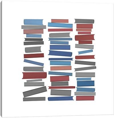 Books Colourful Canvas Art Print