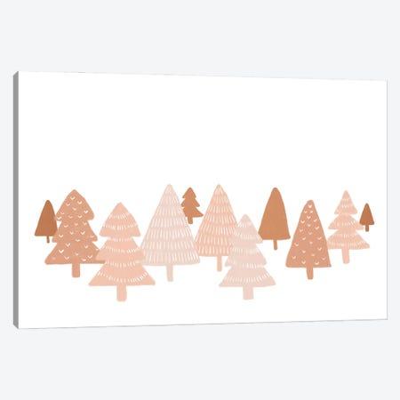Blush Winter Trees Canvas Print #ORA339} by Orara Studio Canvas Art Print