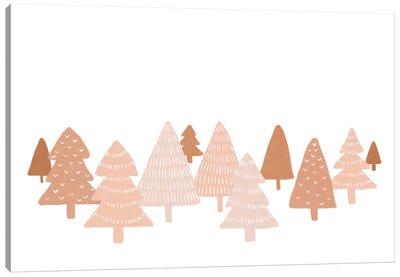 Blush Winter Trees Canvas Art Print