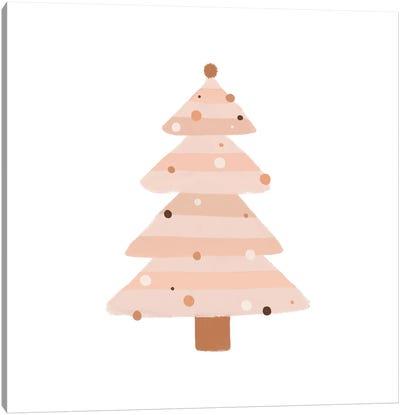 Blush Christmas Tree Canvas Art Print