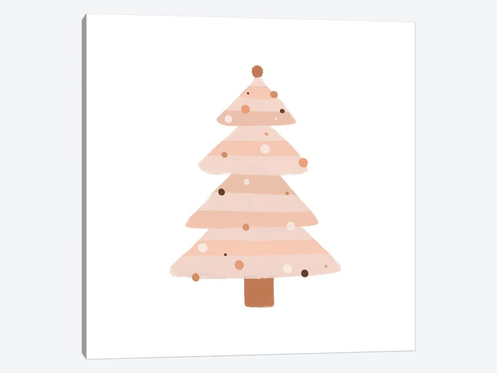 Blush Christmas Tree by Orara Studio 1-piece Canvas Art