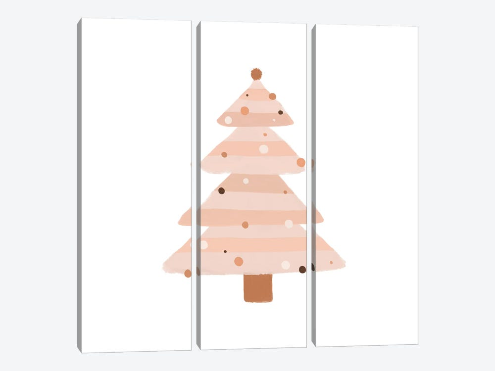 Blush Christmas Tree by Orara Studio 3-piece Canvas Artwork