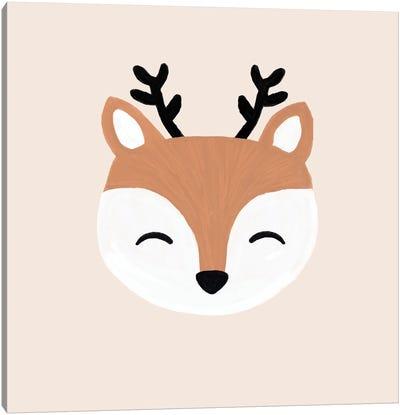 Blush Deer Canvas Art Print