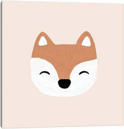 Blush Fox Canvas Art Print