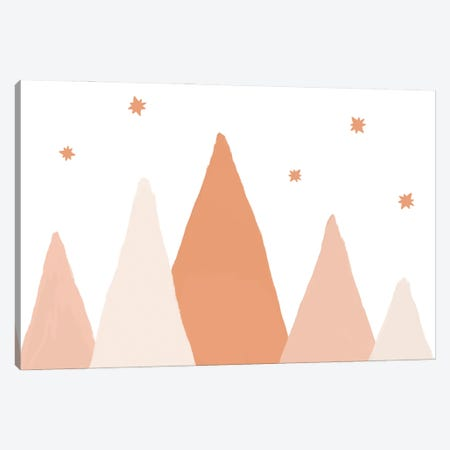 Blush Mountains Canvas Print #ORA343} by Orara Studio Canvas Art