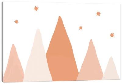 Blush Mountains Canvas Art Print