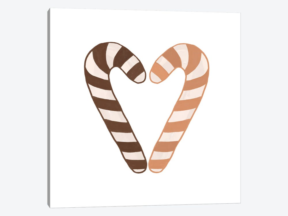 Candy Canes by Orara Studio 1-piece Canvas Art Print