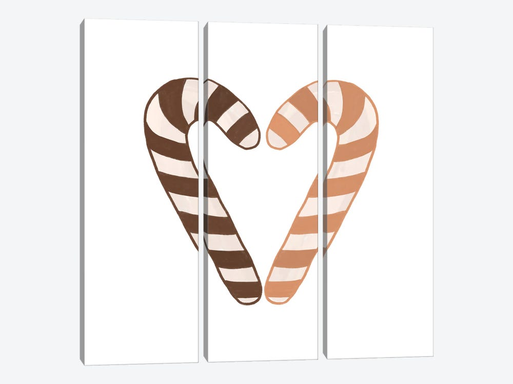 Candy Canes by Orara Studio 3-piece Canvas Print