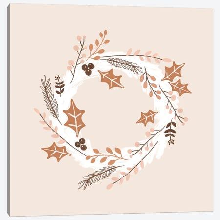 Christmas Wreath Canvas Print #ORA350} by Orara Studio Art Print
