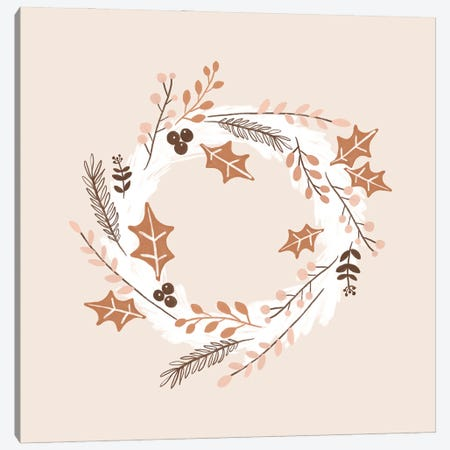 Christmas Wreath Canvas Print #ORA350} by Orara Studio Art Print