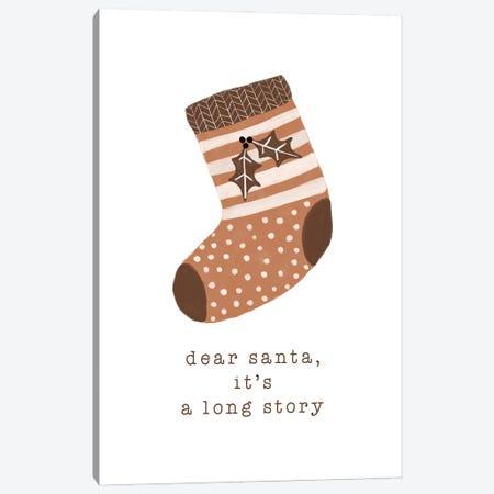 Dear Santa It'S A Long Story Canvas Print #ORA351} by Orara Studio Canvas Art Print