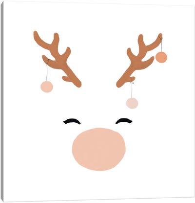 Deer & Baubles Canvas Art Print