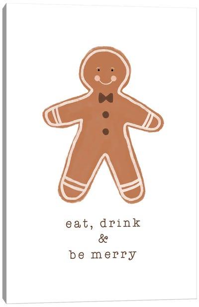 Eat Drink & Be Merry Canvas Art Print