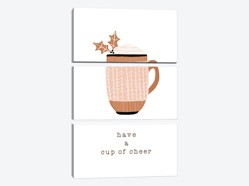 Have A Cup Of Cheer by Orara Studio 3-piece Canvas Print