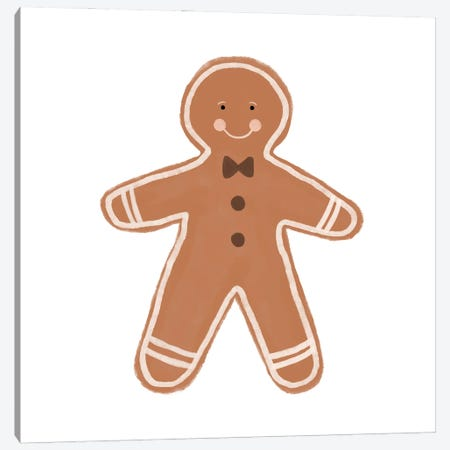 Gingerbread Man Canvas Print #ORA355} by Orara Studio Canvas Artwork